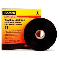 "Electrical Insulation Tape, Heavy Duty, Premium Grade, 1"" Width x 36 Yard Length x 10 Mil Thk, 20 Lb/Inch Breaking Strength, PVC, Vinyl Backing, Rubber Resin Adhesive, Black"