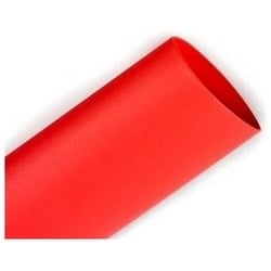 """Heat Shrink Tubing, Flexible, Non-Corrosive?, Single Wall, 900 Volt Dielectric Strength, 50' Length, 1"""" Expanded Inner Diameter, Red Polyolefin, 150' per Case"""