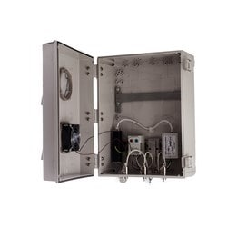 """14""""x12""""x6"""" Heated, Cooled PoE Enclosure for 3 Element RPSMA External Antenna"""
