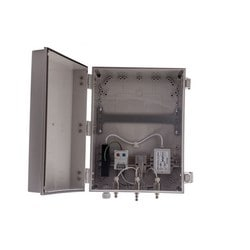 "14""x12""x6"" Heated, Cooled PoE Enclosure for 3 Element RPTNC External Antenna"