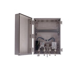 """14""""x12""""x6"""" Heated PoE Enclosure for 4 Element N-Style External Antenna"""