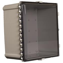 "18""x16""x10"" Nonconfigured Polycarbonate Enclosure with Clear Door, Key Lock"