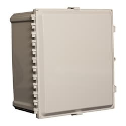 "18""x16""x10"" Nonconfigured Polycarbonate Enclosure with Solid Door, Key Lock"