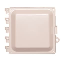 """6""""x6""""x4"""" Nonconfigured Polycarbonate Enclosure with Solid Door and Latch Lock"""