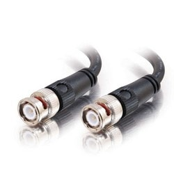 BNC Cable, 75-Ohm, 6ft L, Black Finish