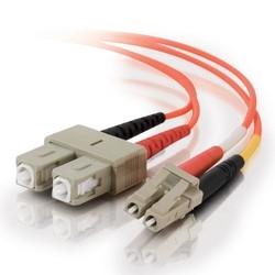 Fiber Jumper, 10Gb, Multimode, 50um, LC SC, 1m L