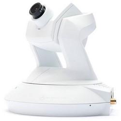 Caméra sans fil, IP Pan/Tilt, H.264/MPEG4, résolution 1280 x 800, F1,8 fixe auto-iris, 12 VDC 5,1 Watt