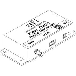 """Audio Receiver, Fiber Optic Cable, 24 VAC, 2.5 VA, 5-3/4"""" Width x 2-5/8"""" Depth"""
