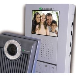 """Video/Audio Entry Kit, 12 Volt DC, 300 Milliampere, 4.65"""" Width x 0.06"""" Depth x 6.97"""" Height, Plastic, White, Includes 3.5"""" LCD Digital Master Monitor, Door Bell and Power Supply"""