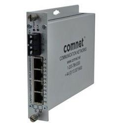 Self-Managed Switch, 5-Port, 10/100 Mbps Ethernet, 62.5/125 Micrometer Multimode, 2-Fiber, 16 dB, Up to 3 Killometer, SC/ST, RJ45, RJ45, 48 VDC, 12 Watt, 0 to 40 Deg C