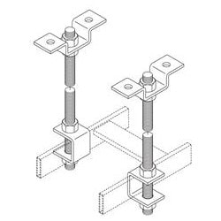 """Cable Runway Threaded Ceiling Kit, 72"""" Height, Includes (1) Support Bracket, (1) 3/8"""" Rod, Steel, Gold Chem"""