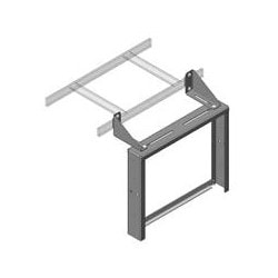 "Cable Runway Patch Panel Rack, 8U, 19.81"" Width x 3.3"" Depth x 16-5/16"" Height, Aluminum, Black, With Side Stringer Bracket"