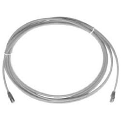 Patch Cord, Plug to Plug, Double Ended, RJ45 Connector, Cat 5E Plug to NES Plug, 24 AWG, 4-Pair, 15' Length, Copper Conductor, Industry Standard, Gray
