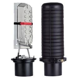 """Fermeture de fibre optique d'épissage, 6 tour Port, compressé Gel câble joint, 11,5"""" diamètre x longueur de 29,65"""", noir"""
