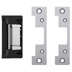 Door Electric Strike, 12/24 VDC, 0.24/0.12A, 1500 Lb Static Load, Satin Stainless Steel, With Faceplate