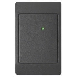 """Proximity Card Reader, Low Profile, 5.5"""" Read Range, 125 Kilohertz, 00 Configuration, 5 to 16 VDC, 4.7"""" Length x 3"""" Width x 0.68"""" Height, Polycarbonate, Classic Charcoal Gray"""