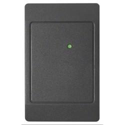 "Proximity Card Reader, Low Profile, 5.5"" Read Range, 125 Kilohertz, 00 Configuration, 5 to 16 VDC, 4.7"" Length x 3"" Width x 0.68"" Height, Polycarbonate, Classic Black"