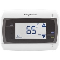"""Communicating Thermostat, Touchscreen, Battery Powered, Remote Control, (4) AA Battery, 908.42 Megahertz, 20.45 dBm, 5.5"""" Width x 1.3"""" Depth x 4"""" Height"""