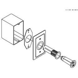 Kit boîte de jonction simple, blanc, avec Shatterpro, pour capteur de bris de verre de série 5820 a