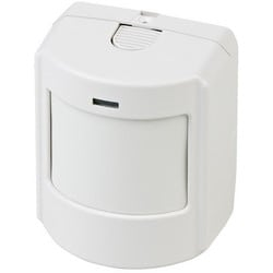Wireless Passive Infrared Motion Detector, 3.6 VDC Lithium Battery, For Indoor, With Pet Immune