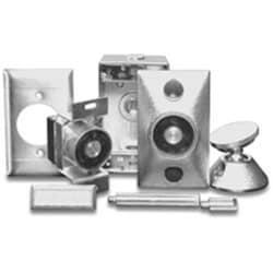 Electromagnetic Fire Door Holder, Surface Mount, 12/24 VAC/DC, Chrome Plated