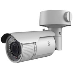 IP Camera, Bullet, IR, NTSC, Day/Night, H.264/MJPEG, 2048 x 1536 Resolution, F1.4 Varifocal/Auto Iris 2.8 to 12 MM Lens, 64 GB, 12 VDC 625 mA 7.5 Watt, PoE
