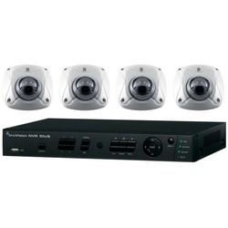 Enregistreur vidéo et Kit caméra réseau, comprend des canaux 4, 4,1 (3) IR Wedge mégapixels, 2TB capacité