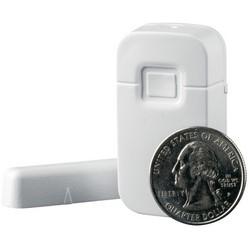 """Capteur porte/fenêtre, sans fil, Micro, Crystal, 3 VDC Lithium pile bouton, 30 à 120 Deg F, 1,9"""" longueur x 1"""" largeur x 0,5"""" profondeur, boîtier en plastique ABS, Brown"""
