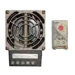 "Enclosure Heater, Medium, 100 Watt, 3-Pole, 14 AWG, 3.25"" Width x 2.25"" Depth x 4.5"" Height, -49 to 158 Deg F, With Blower, Thermostat"