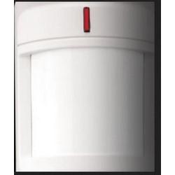 "Passive Infrared Motion Detector, Wall/Corner Mount, 16 VDC, 28 Milliampere Alarm, 65 Lb Pet Immunity, 45' x 45' Detection Range, 2.5"" Width x 1.9"" Depth x 3.3"" Height"
