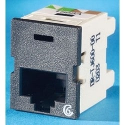 Modular Jack, Cat 6, T568A/B Wiring, 26 to 22 AWG, 18.54 MM Width x 26.92 MM Depth x 23.37 MM Height, High Impact Thermoplastic, Black