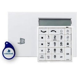 "Alpha Keypad, Alphanumeric, Horizontal, Type C, Wall Mount, 2 Line, 32 Character, SAFT/AA/Lithium/LS14500 Battery, 915 Megahertz, 3.9"" Length x 5.63"" Width x 0.94"" Height, ABS"