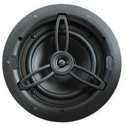 "Speaker, In-Ceiling, Round, 8 Ohm, 86 dB, 100 Watt, 60 Hertz to 20 Kilohertz, 6.5"" Woofer, 9.06"" Width x 3.9"" Depth x 9.06"" Height, White"