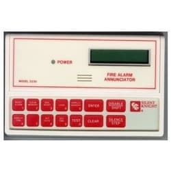 """Fire Alarm Remote Annunciator, 2-Line 16-Character LCD, 12 VDC, 25 Milliampere Standby, 40 Milliampere Alarm, 6.9"""" Width x 1"""" Depth x 4.25"""" Height"""
