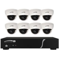 Network Video Recorder and IP Kit, Plug and Play, 8-Channel IP Camera Video Input, 8 Full HD 1080P Resolution IR Dome Camera, PoE, 20 Mbps Throughput, 48 VDC, 2A, 2 TB<br /><br />Discontinued by supplier. See Anixter 759532 for replacment