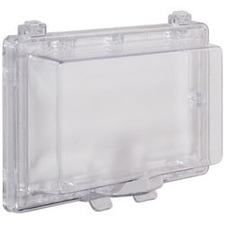 "Keypad Protector, Wide Body, 8.25"" Width x 1.75"" Depth x 4.25"" Height, Without Lock, Clear, For Flush Mounted Unit"