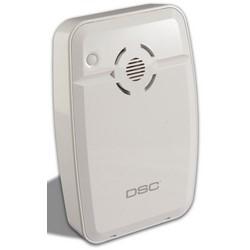"Wireless Indoor Siren, 2-Way, 85 dB, 3.3"" Width x 1.1"" Depth x 5"" Height, With (4) AA Battery"