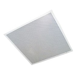 """IP Ceiling Speaker, Lay-In, 1-Way, 23.75"""" Length x 23.75"""" Width x 3.75"""" Depth, Metal, Electrostatic Powder Coated, With Integral Back Box"""