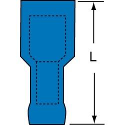 3M Scotchlok Female Disconnect Heatshrink Nylon Insulated, 25/bottle, MNHU14-250DFIX
