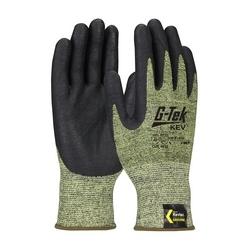 G-Tek KEV, Kevlar Engineered Yarn, Yellow/Black 13 Gauge, Nitrile Foam, A7, Large