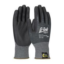 G-Tek KEV, Kevlar Engineered Yarn, Gray 13 Gauge, Nitrile Foam, ANSI A4, Large