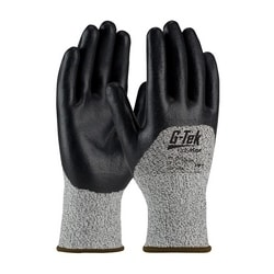 G-Tek CR, S&P PolyKor Blended Shell , Black Nitrile Coat, EN3, XS