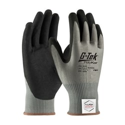 G-Tek PolyKor Xrystal, Blended Gray 13 Gauge, Nitrile MicroSurface, A4, XS