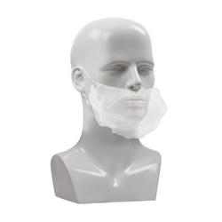 White Polypropylene Beard Guard, One Size