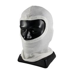 100% Nomex Hood w/o Bib, Full Face Coverage, Double Layer, White, OSFM