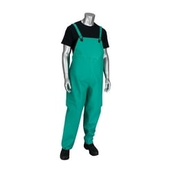 Rain Bib Overall .42mm PVC/Nylon/ PVC, FR Treated, Green, 2XL