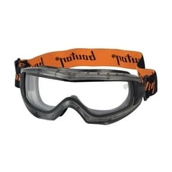 Reaction Dbl Lens Goggle, Clear AS/AF, Elastic Strp, Gray Frame