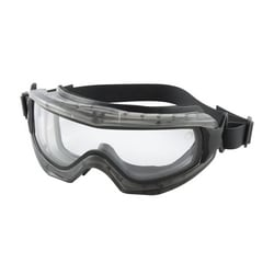 Reaction Dbl Lens Goggle, Clear AS/AF, Neoprne Strp, Gray Frame
