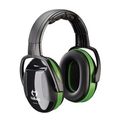 Hellberg Headband, Secure 1 with 23 dB NRR, Green/Black, Dielectric
