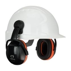 Hellberg Cap Mounted, Secure 3 with 27 dB NRR, Orange/Black, Dielectric